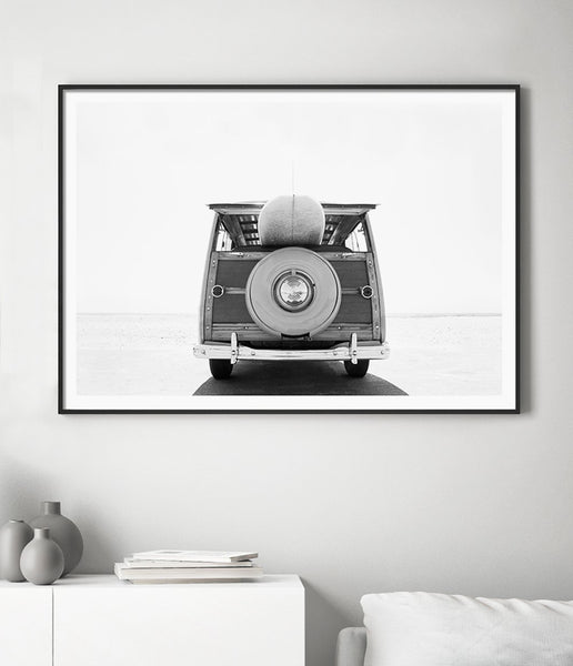 vintage surf van wall art surf print beach wall art