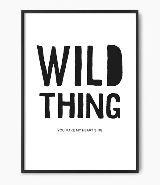 wild thing lyric art print by little ink empire