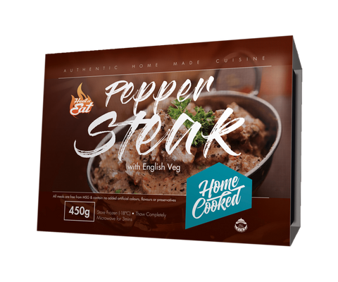 Pepper Steak with English Vegetables| Heat&Eat Frozen Meal | Savoury Boutique