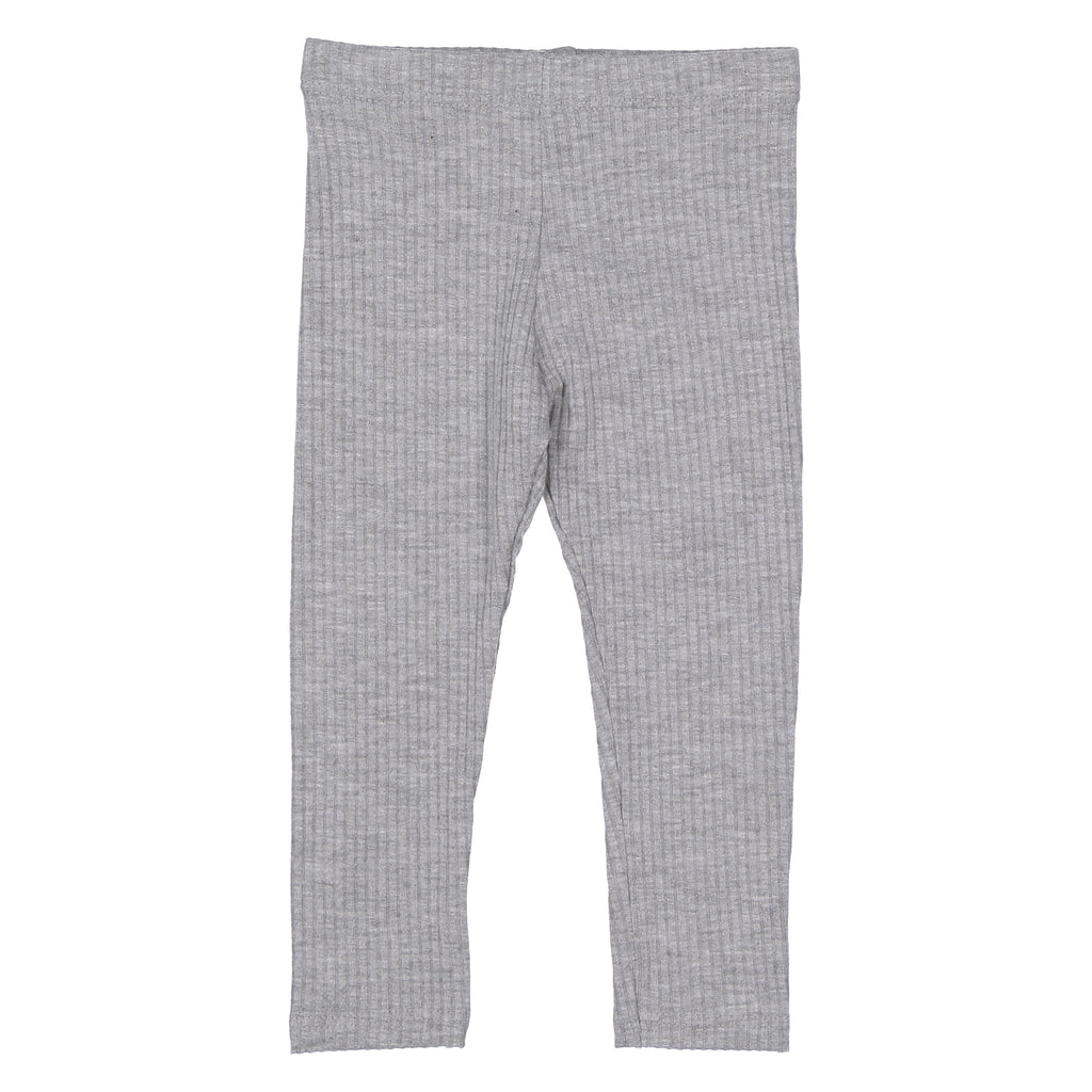 Winter Heather Gray Ribbed Leggings