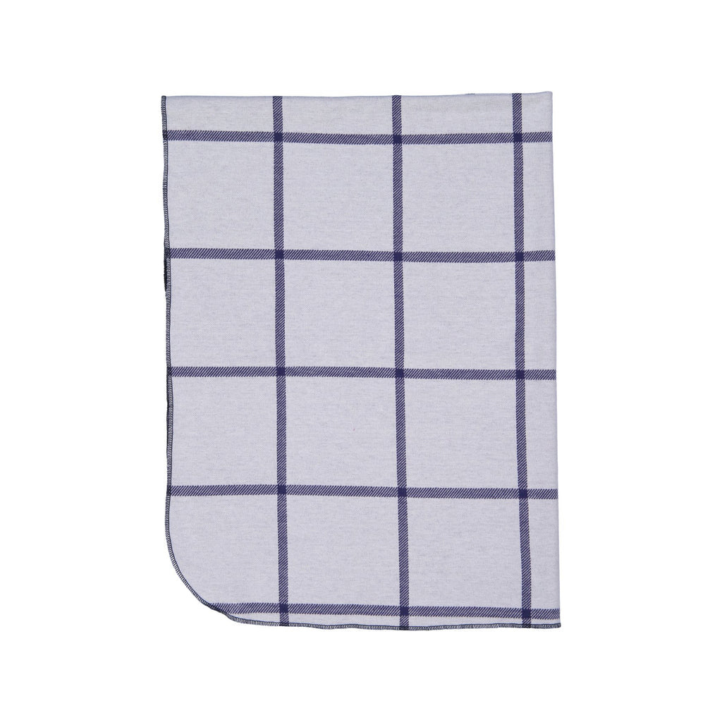 Navy Plaid Posh Winter Weave Blanket X Eishes Style Collection