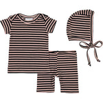 Nantucket Pink Stripe Lap Tee & Shorts Set