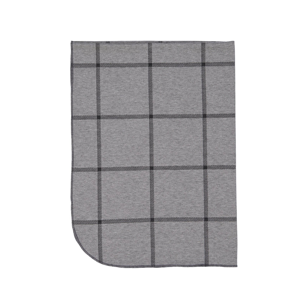 Gray Plaid Posh Winter Weave Blanket X Eishes Style Collection