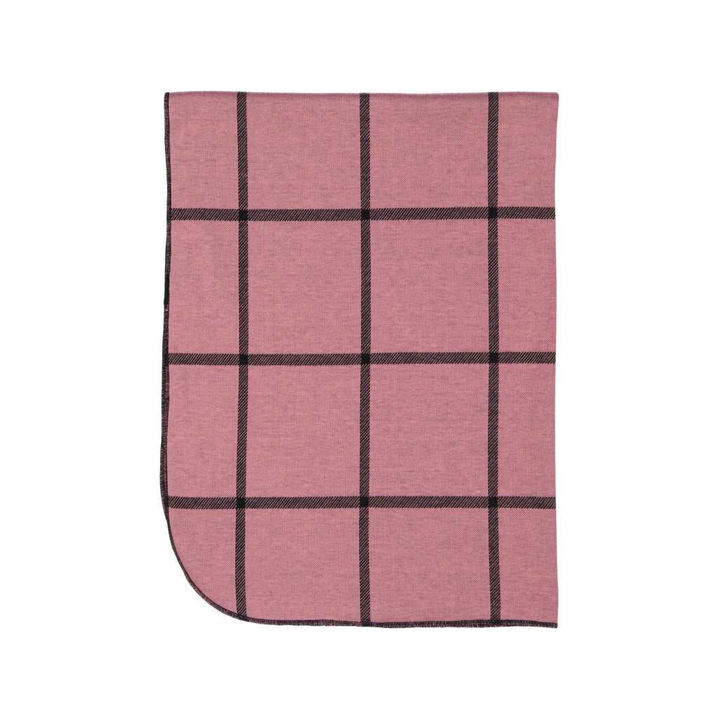 Rose Plaid Posh Winter Weave Blanket X Eishes Style Collection