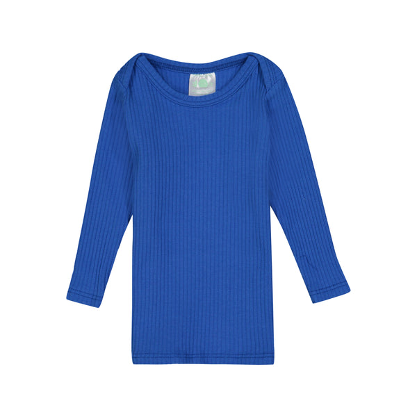 Royal Blue Ribbed Long Sleeve Lap Tee