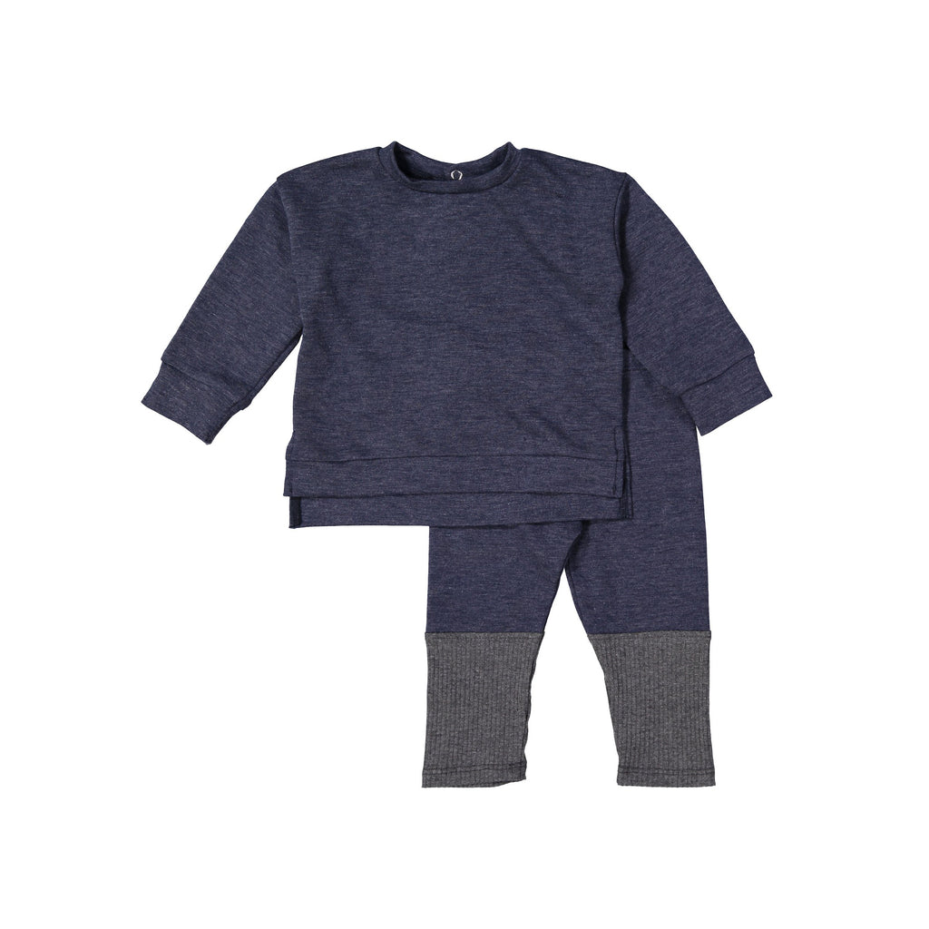 Navy Tone Mod Sweater Set X Eishes Style Collection