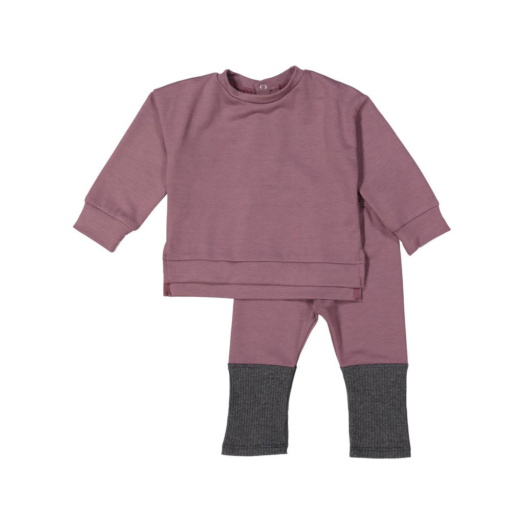 Mauve Dusk Mod Sweater Set X Eishes Style Collection