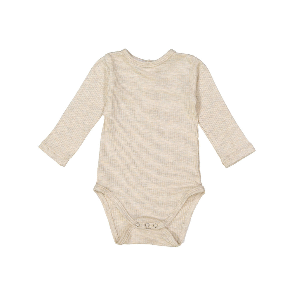 Heather Oatmeal Silky Soft Ribbed Onesie