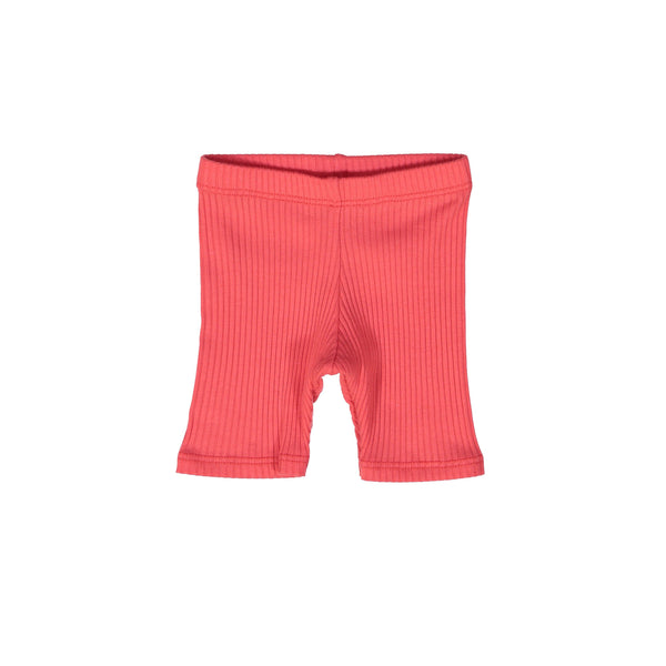 Pink Coral Ribbed Shorts