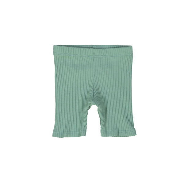 Deep Sage Ribbed Shorts