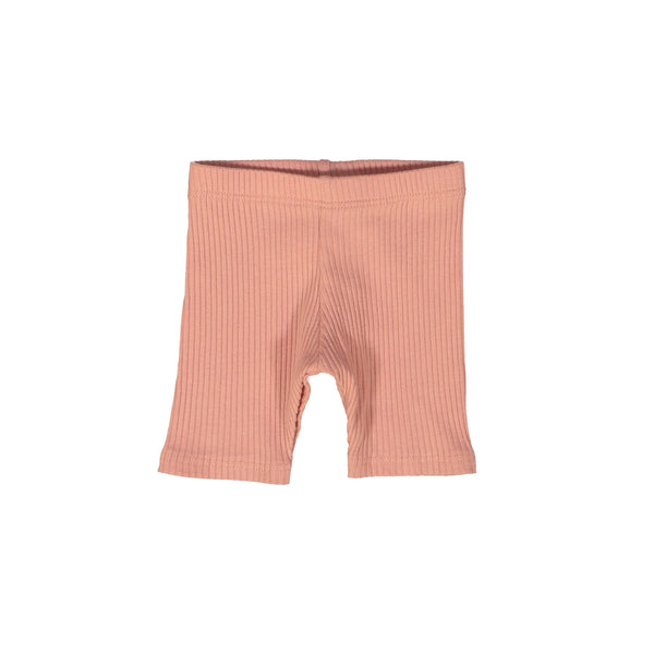 Apricot Ribbed Shorts