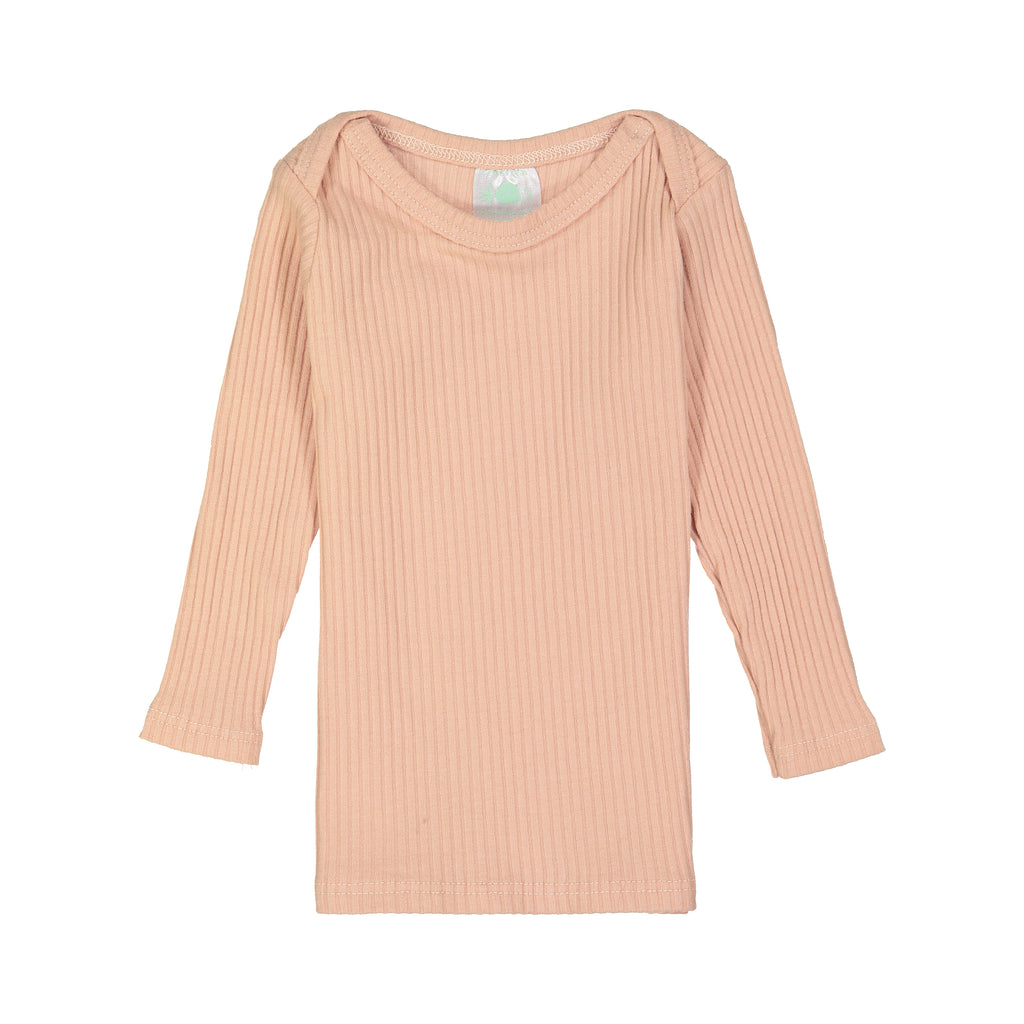Blush Ribbed Long Sleeve Lap Tee