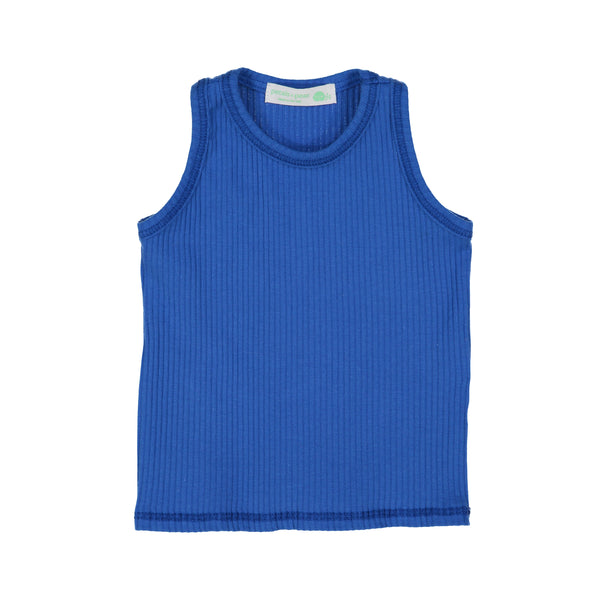 Royal Blue Ribbed Tank