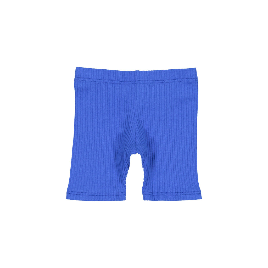 Royal Blue Ribbed Shorts