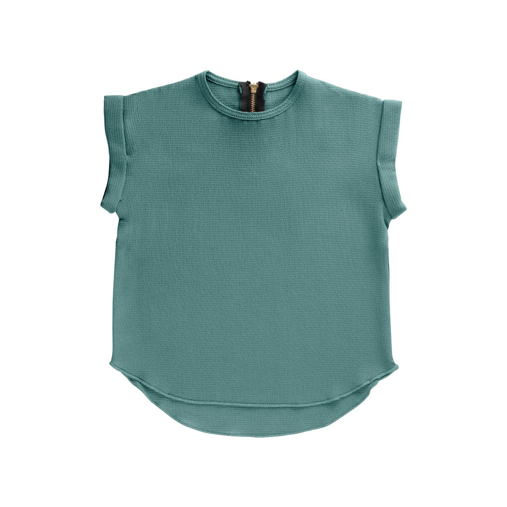 Ultramarine Essential Spring Rolled Sleeve Top
