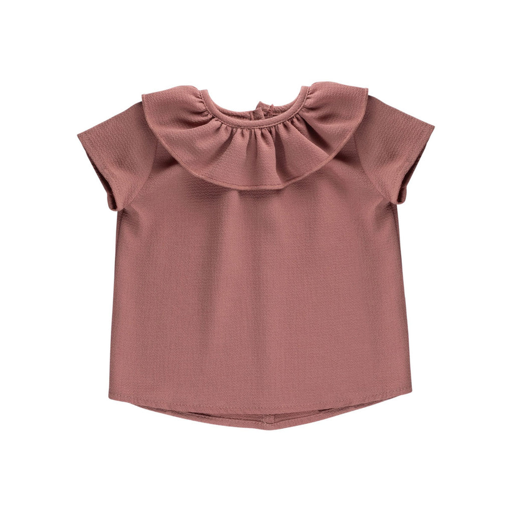 Rose Essential Spring Ruffle Top