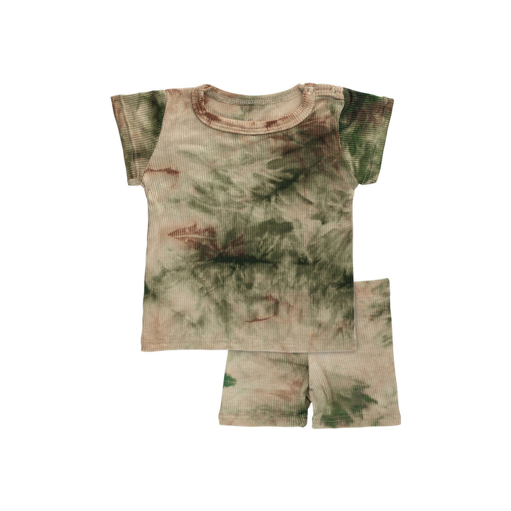 Army Ribbed Tie-Dye Set