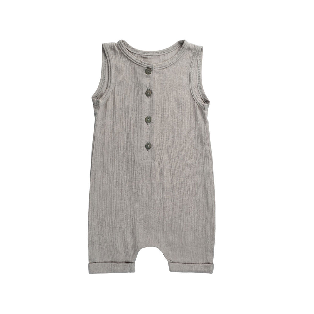 Silver Buttoned Dapper Romper - By POSH