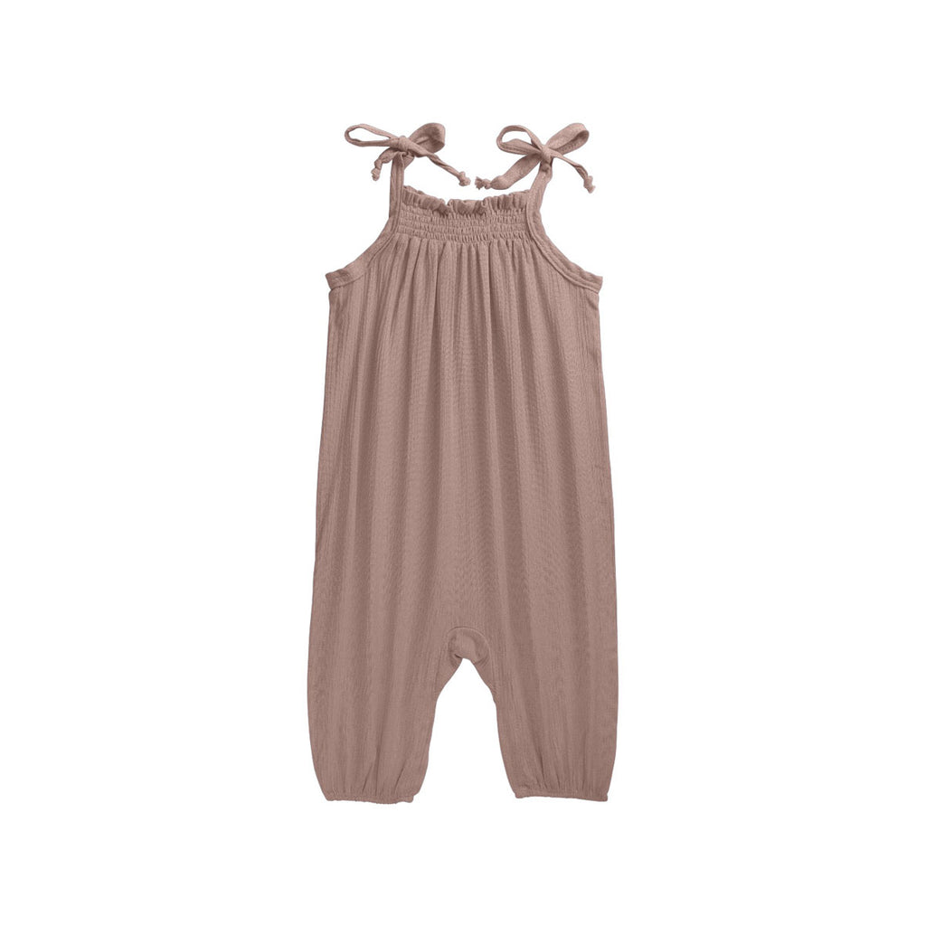 Taupe Tied Dapper Romper - By POSH