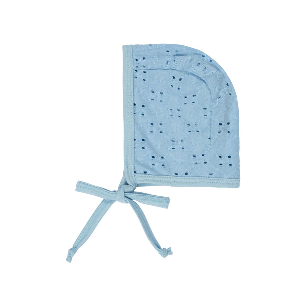 Sky Blue Eyelet Bonnet - by POSH