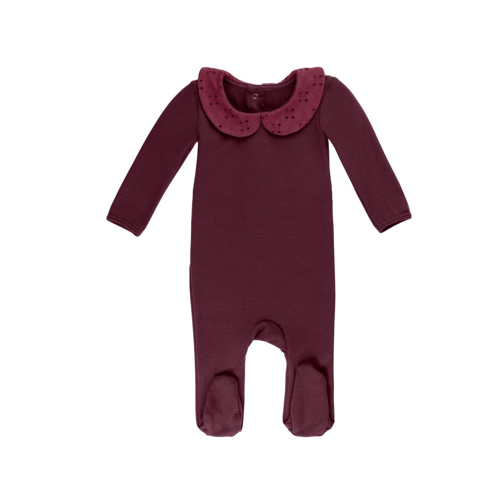 Burgundy Eyelet Stretchie - by POSH