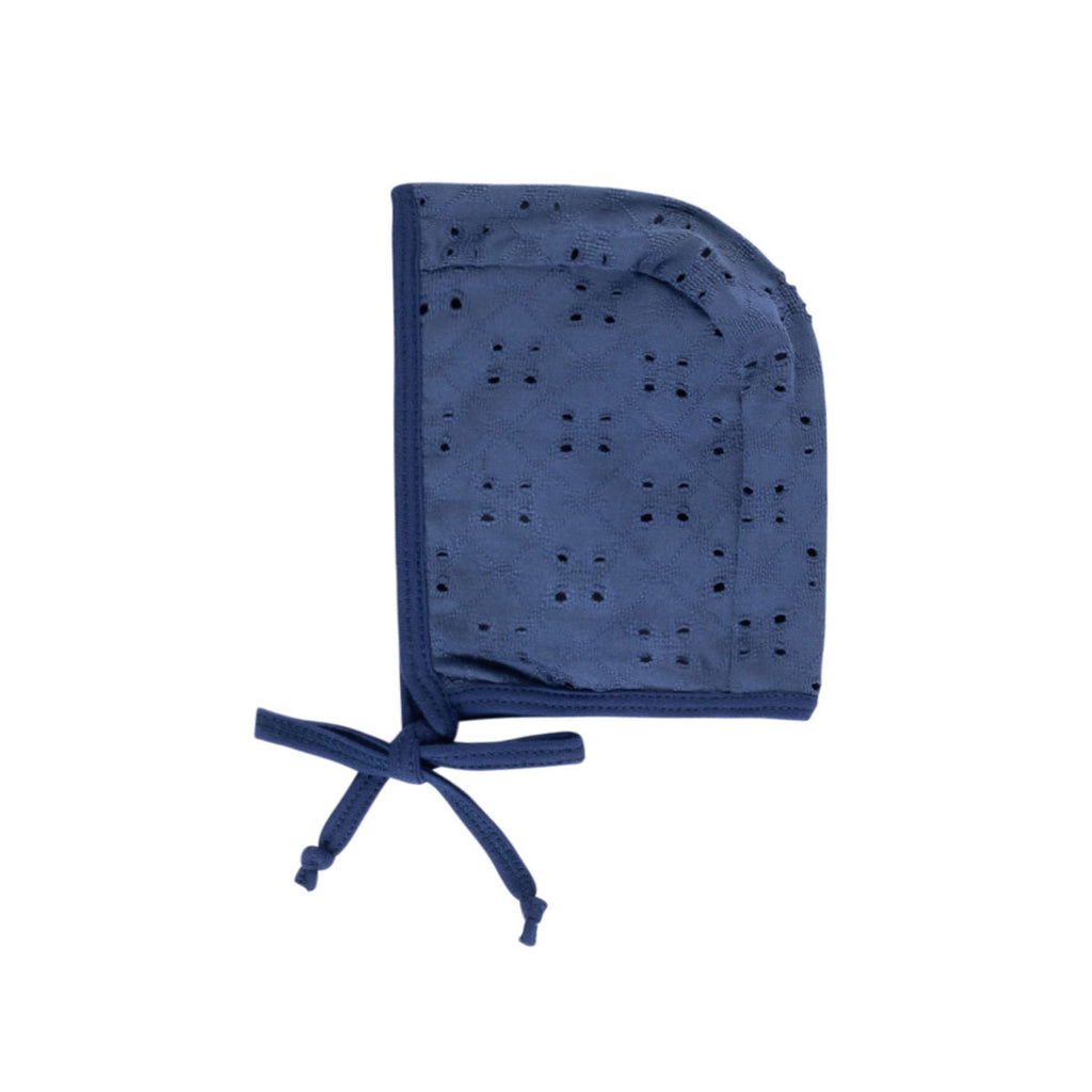 Midnight Blue Eyelet Bonnet - by POSH