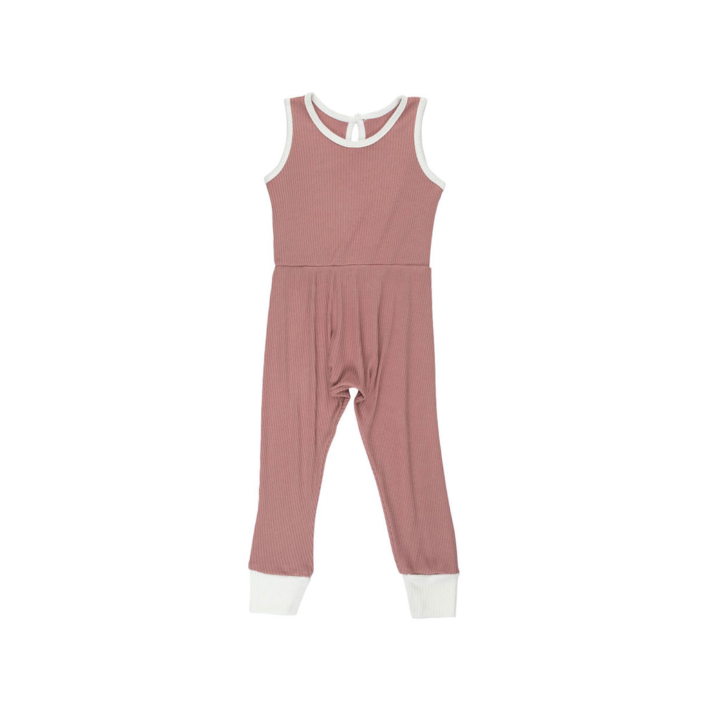Rose Ribbed Pantaloone Overalls