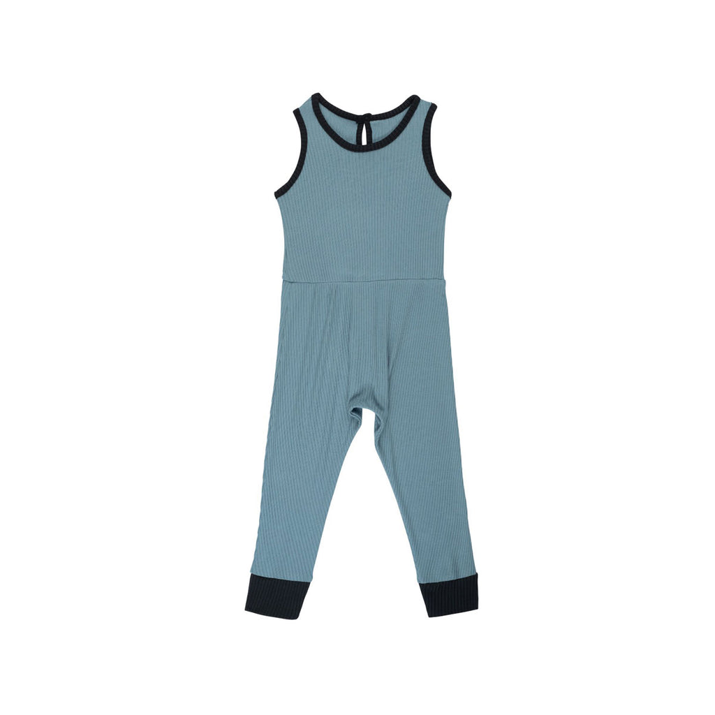 Azure Ribbed Pantaloone Overalls