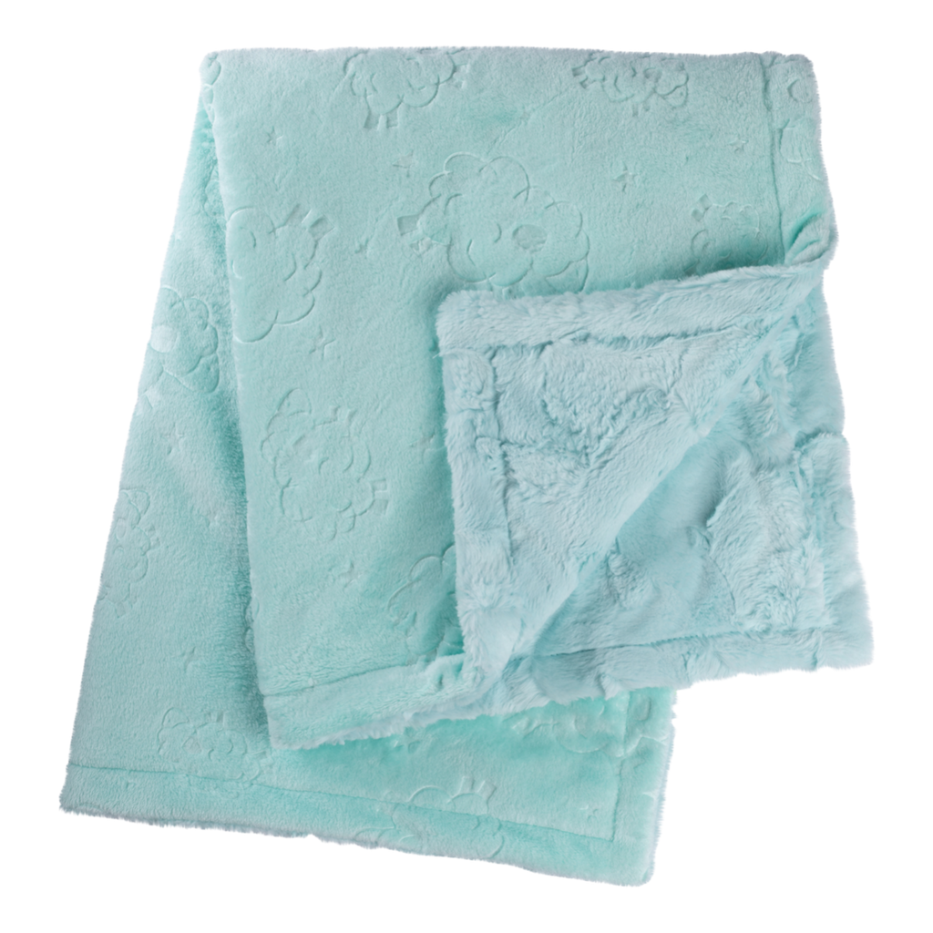 Sea Glass Embossed Lamb Cuddle Blanket