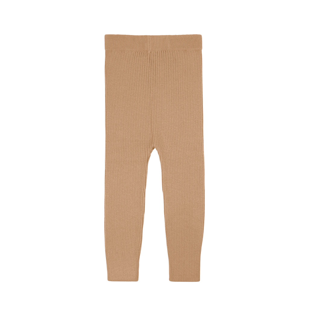 Camel Rib Knit Pants - By POSH