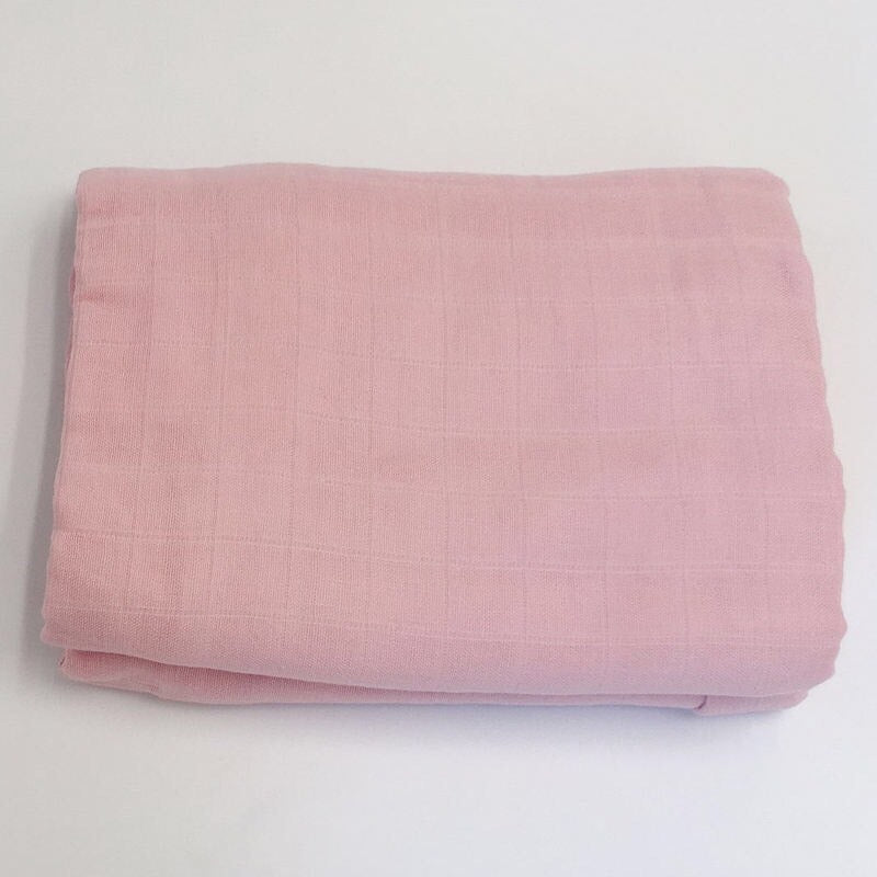 Organic Cotton Sweet Pink Swaddle Blanket