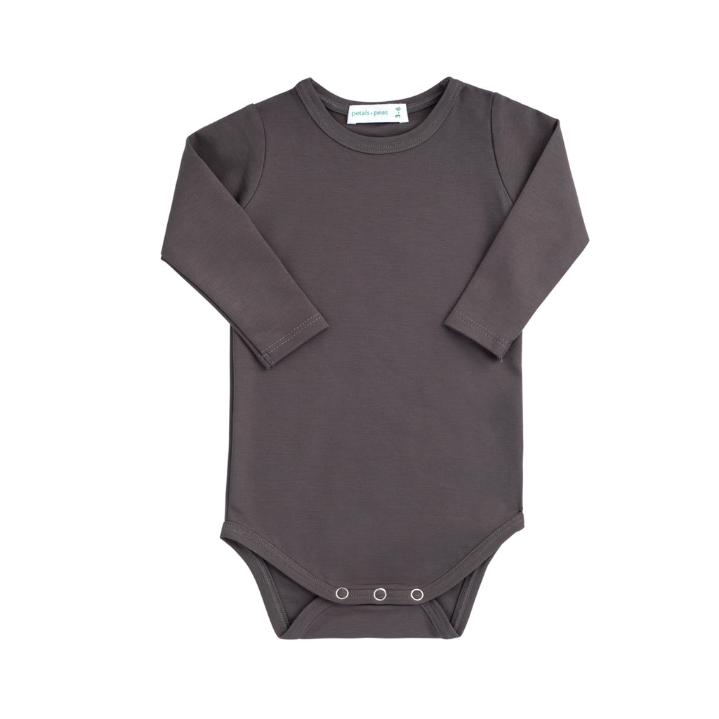 Silky Soft Gray Clay Onesie
