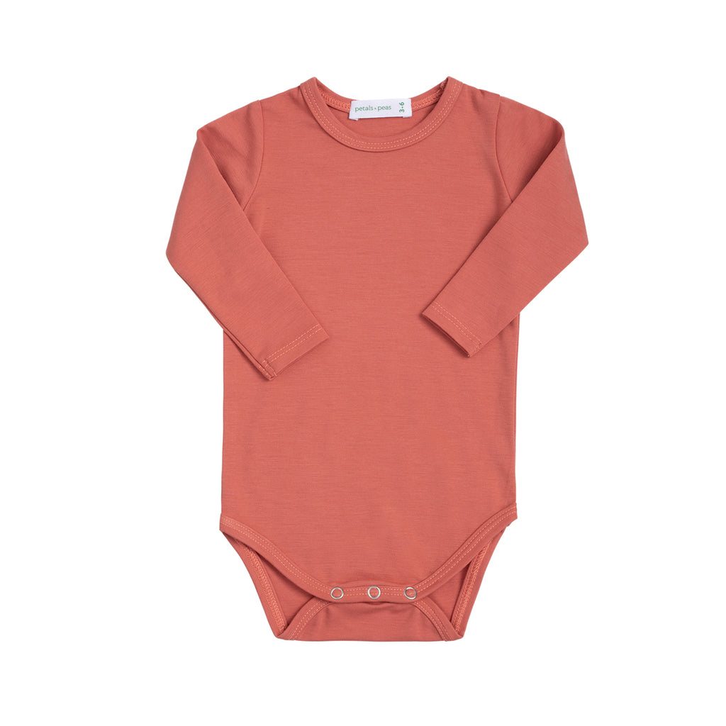 Silky Soft Burnt Peach Onesie