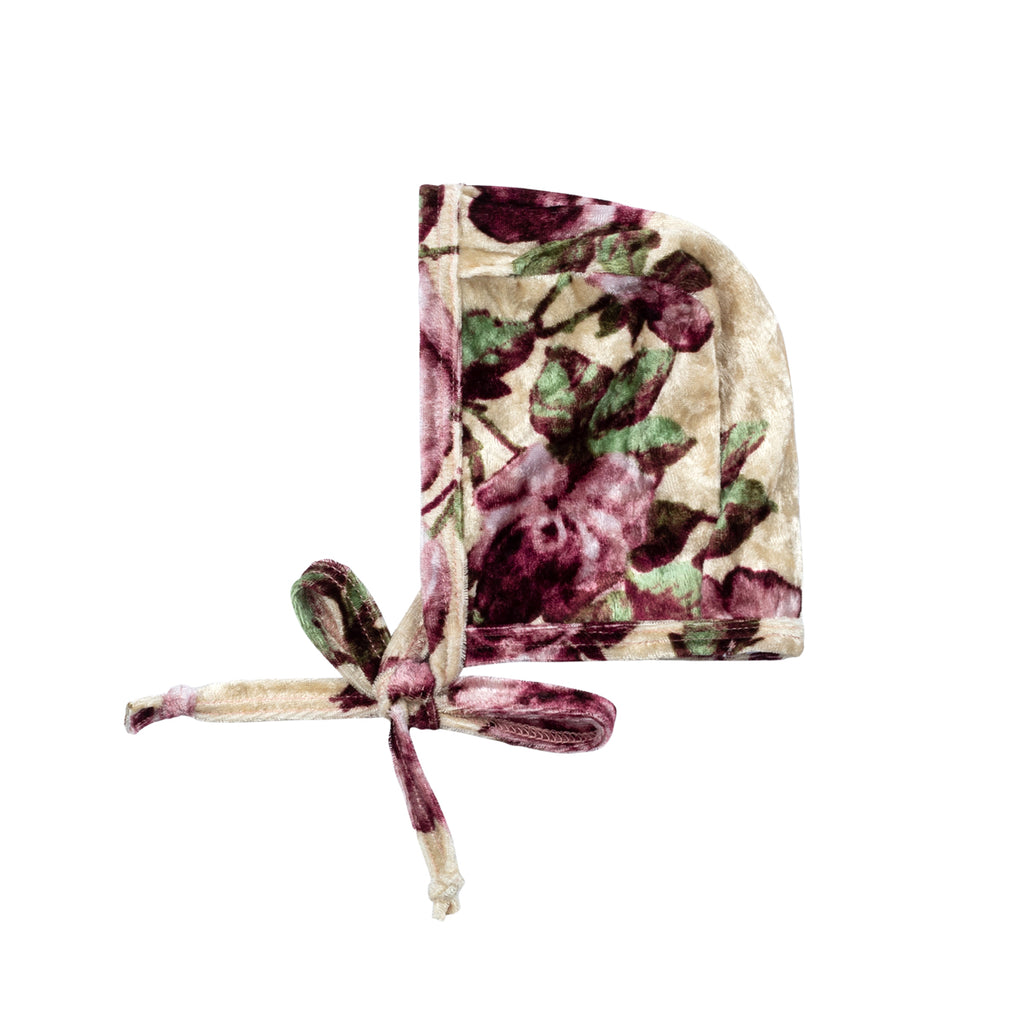 Floral Velvet Bonnet - By POSH