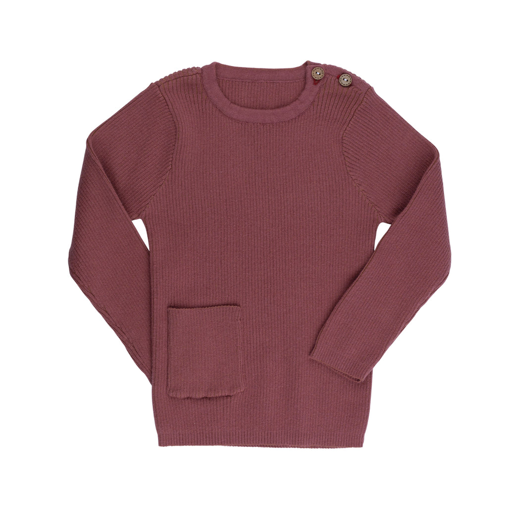 Sweet Berry Rib Knit Sweater - By POSH