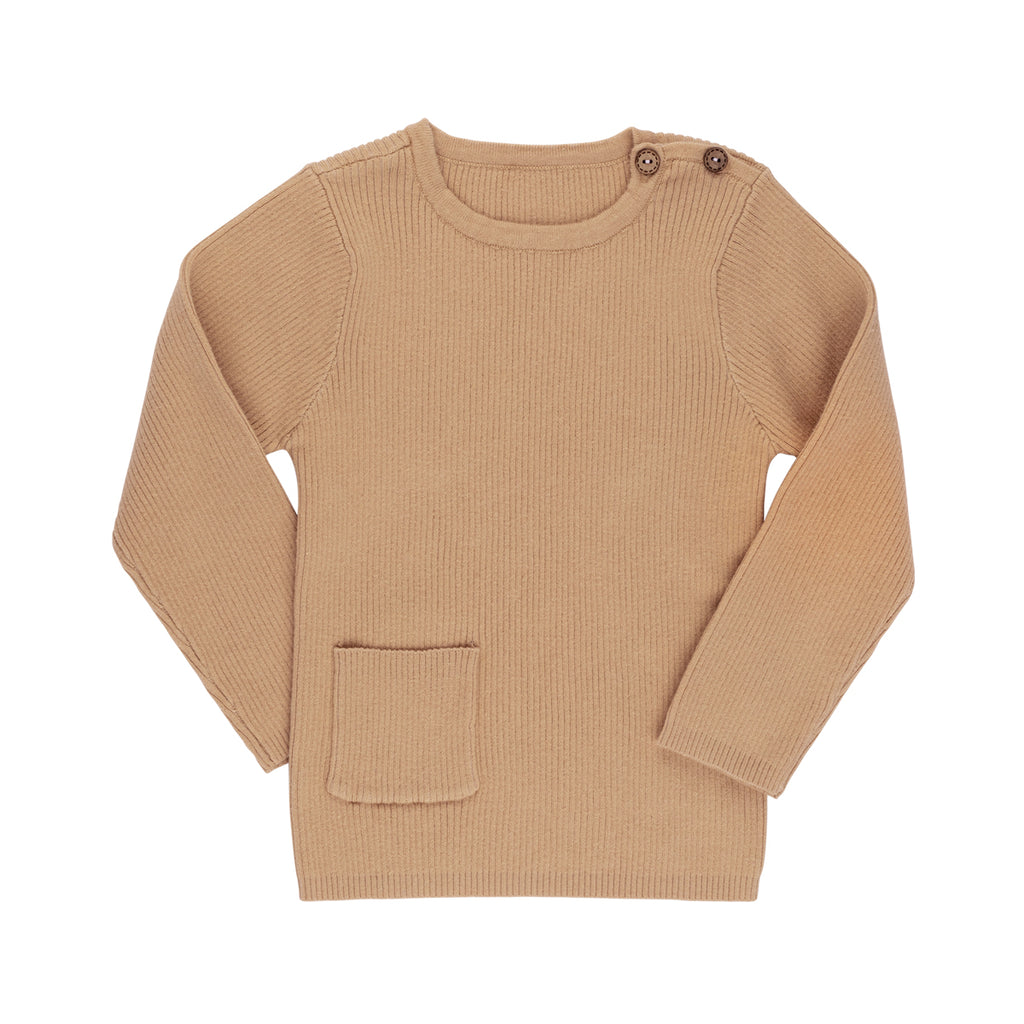 Camel Rib Knit Sweater - By POSH