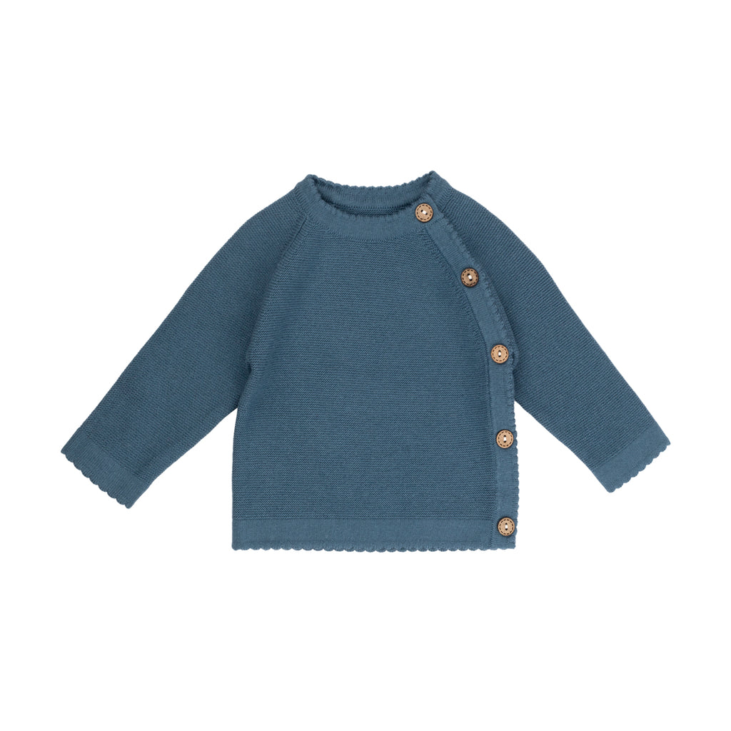 Ocean Blue Crossover Link Knit Sweater - By POSH
