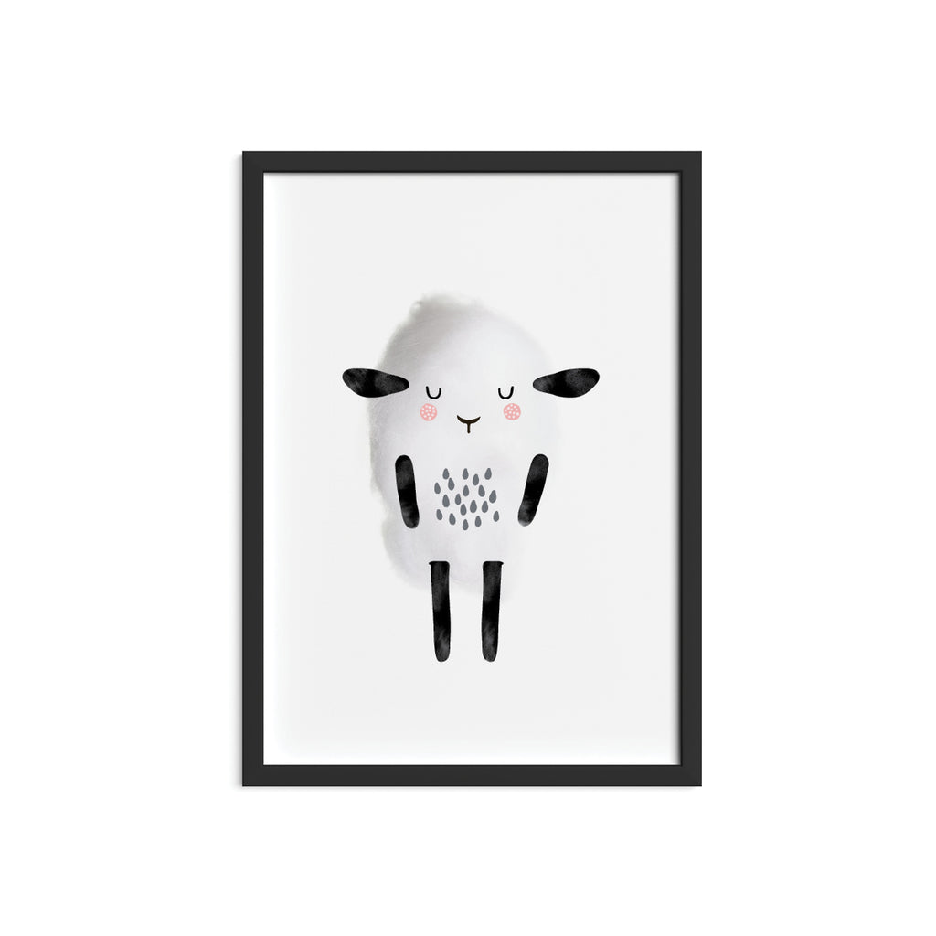 Cotton Sheep Framed