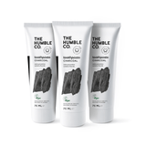 3x Natural Toothpaste – Charcoal with Fluoride - The Humble Co.