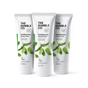 3x Natural Toothpaste – Fresh Mint with Fluoride - The Humble Co.