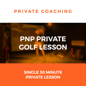 PnP Private Golf Coaching - 30 Minutes