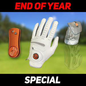 PnP Leather Golf Glove + Quick-N-Ezy Rain Guard + Luxury Repair Tool