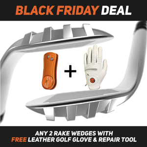 2 RAKE Wedge Combo with Free Golf Glove & Repair Tool
