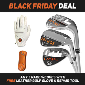 3 RAKE Wedge Combo with Free Golf Glove & Repair Tool