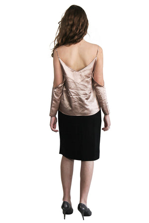Rose Gold Silk Top