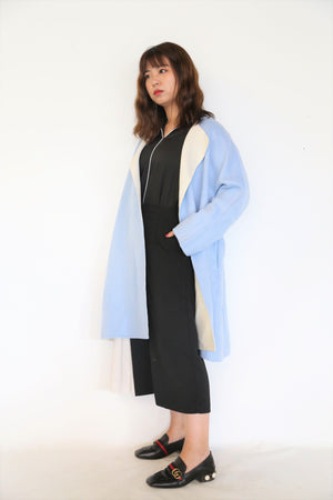 Two Toned Cashmere Wool Coat