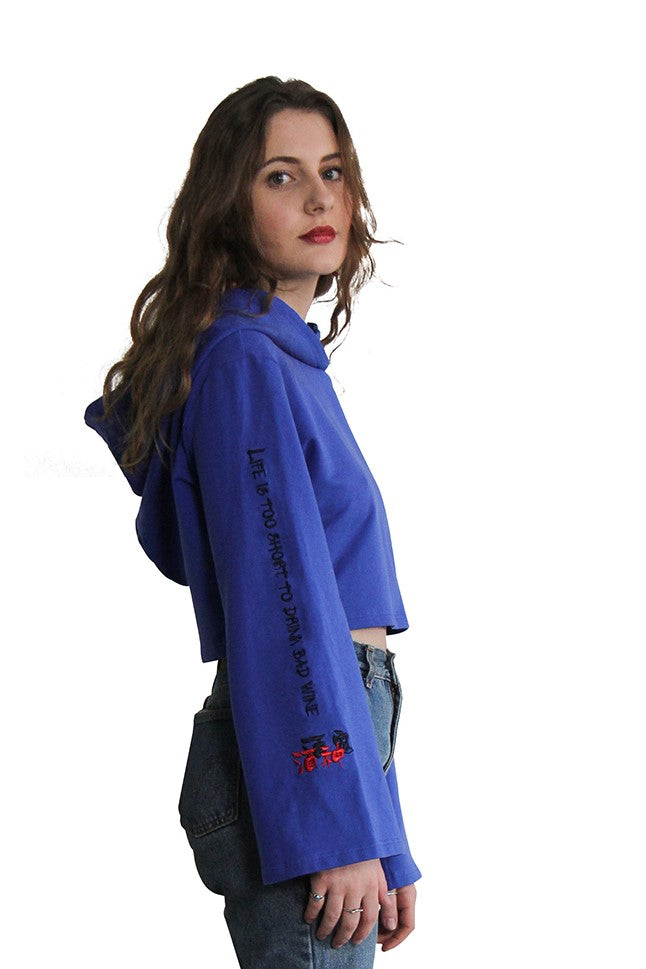 Blue Embroidered Bacchus Sweater