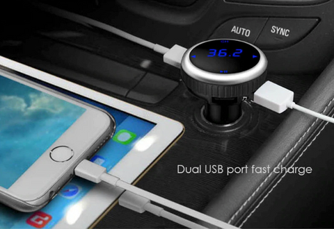 Bluetooth Wireless FM Transmitter Modulator Car Kit