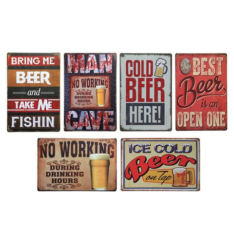 Vintage Tin Signs - Goth, Cocktail Lounge - Restaurant & Cafe Decor