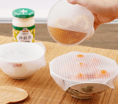 Food Grade Reusable Silicone Food Saver ( Set of 4 pcs )